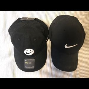 Nike hats, one kid, one adjustable